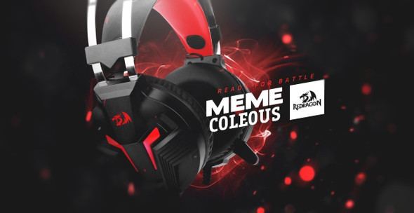 Redragon H112 MEMECOLEUS  GAMING HEADSET WITH MICROPHONE FOR PC, WIRED OVER EAR PC GAMING HEADPHONES ,WORKS WITH PC, LAPTOP, TABLET, PS4, XBOX ONE