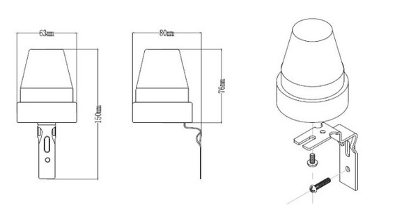 Photocell Light Sensor Switch Detector Adjustable LUX Auto Off Daylight