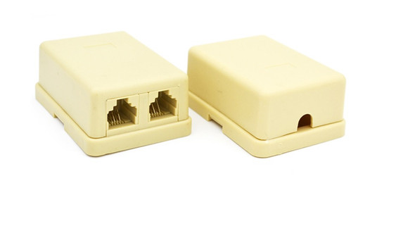 1 Pc RJ11 6P 4C Double Female Socket - Telephone Cable Connector Box