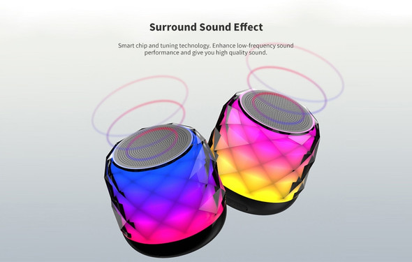 A20 Colorful Glare Bluetooth Speaker - Black