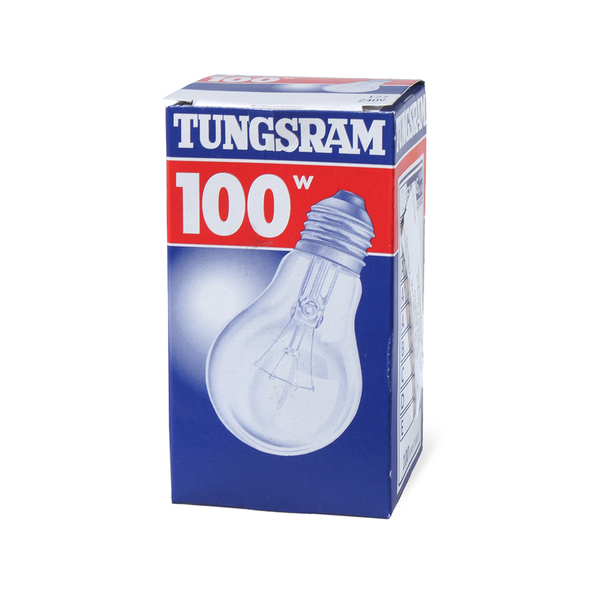 Tungsram Light Bulb - 100w  E27 240v Frosted,  لمبة 100 وات برم   - Made in India