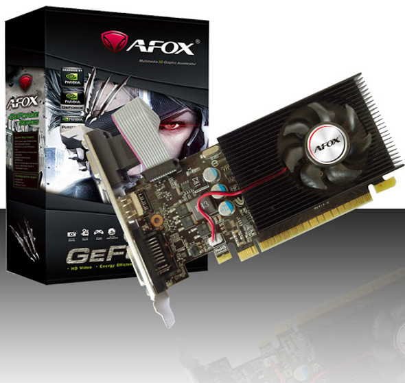 VGA AFOX GeForce GT730 4GB 128bit DDR3 Low Profile PCI-E Graphics Card