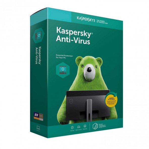 Kaspersky Anti-Virus 2020 2 Devices | 1 Year License