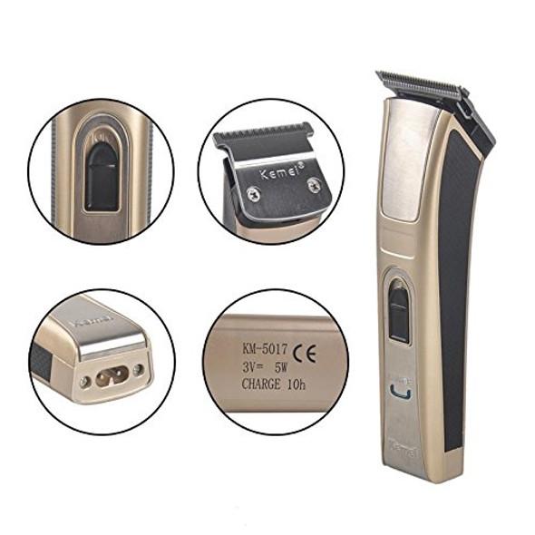Kemei KM-5017 Rechargeable Professional Hair Trimmer for Men, Women