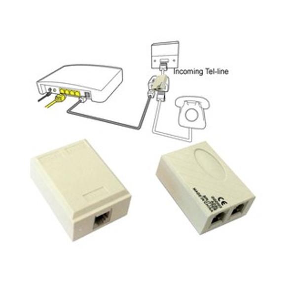 RJ11 Line ADSL Modem Telephone Filter Splitter HL2003