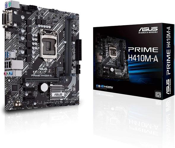 ASUS PRIME H410M-A LGA1200 (Intel® 10th Gen) Micro-ATX commercial motherboard (M.2 support, HDMI, D-Sub, DVI, USB 3.2 Gen 1, COM header, TPM header and ASUS Control Center Express)