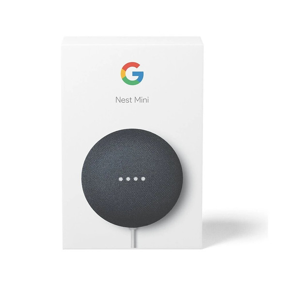Nest Mini (2nd Generation) with Google Assistant - Chalk / Charcoal