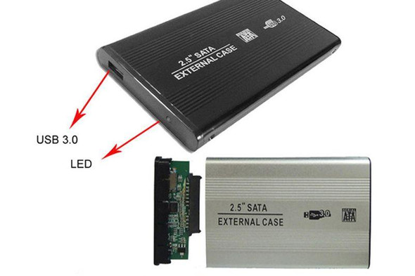 "2.5"" SATA to USB 3.0 External Hard Drive Enclosure Compatible with SSD"
