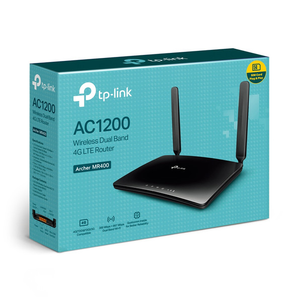 Archer MR400 AC1200 Wireless Dual Band 4G LTE Router