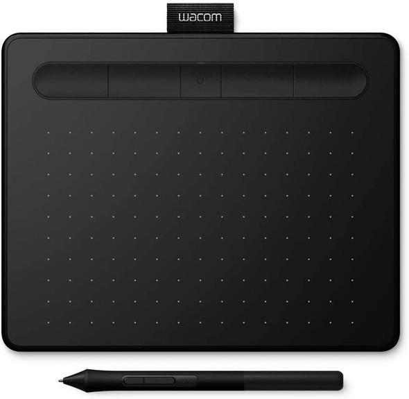 Wacom Intuos S, Pen Tablet, Mobile Graphic Tablet for Painting, Sketching and Photo Retouching with 1 Creative Software Download, Black - Ideal for Work from Home & Remote Learning