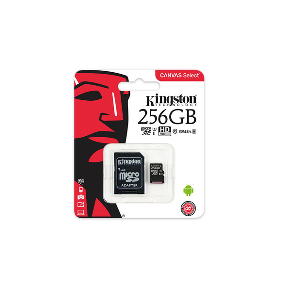 Kingston 256GB Canvas Select Plus UHS-I microSDXC Memory Card