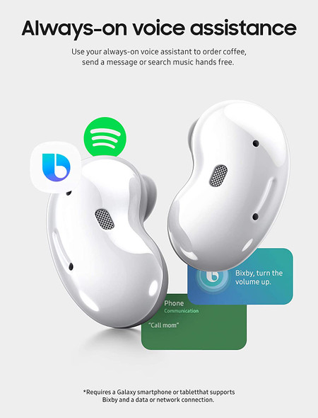 Samsung Galaxy Buds Live, True Wireless Earbuds w/Active Noise Cancelling ( Wireless Charging Case Included ), Mystic White SM-R180NZWAMEA