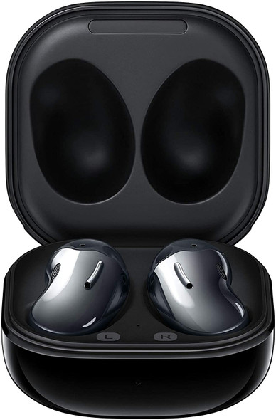 Samsung Galaxy Buds Live, True Wireless Earbuds w/Active Noise Cancelling ( Wireless Charging Case Included ), Mystic Black, SM-R180NZKAMEA - R180