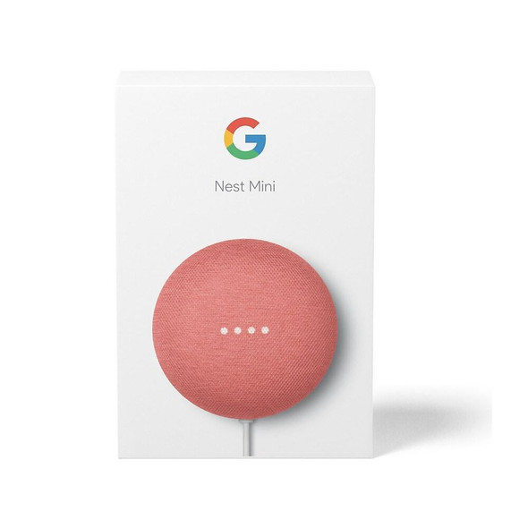 Nest Mini (2nd Generation) Smart Speaker with Google Assistant - Coral