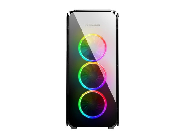 COUGAR Puritas RGB Black ATX Mid Tower Gaming Case with Pure Tempered Glass Window | PURITAS RGB