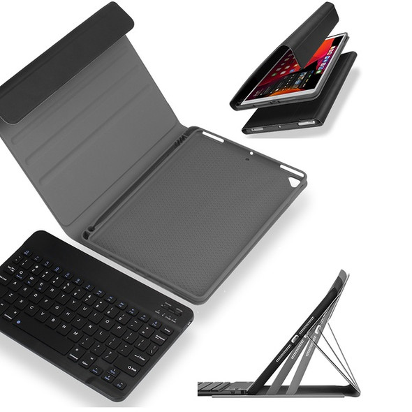 "Wireless Smart Keyboard Case Smart Cover Leather Stand Case for iPad 5,6,7,8,9,10.2"" Black Cases, Keyboards & Sleeves"