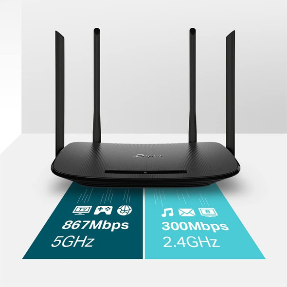 TP-Link Archer VR300 AC1200 wireless router Dual-band (2.4 GHz / 5 GHz) Fast Ethernet Black Archer VR300 AC1200, Dual-band (2.4 GHz / 5 GHz), IEEE 802.11ac, 867 Mbit/s, IEEE 802.11a,IEEE