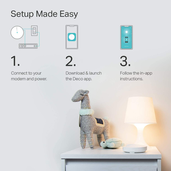 TP-Link Deco Mesh WiFi System( Deco M5 ) –Up to 3,800 sq. ft. Whole Home Coverage, WiFi Router/Extender Replacement, Parental Controls, Free HomeCare, Seamless Roaming, Work with Alexa, 2-pack