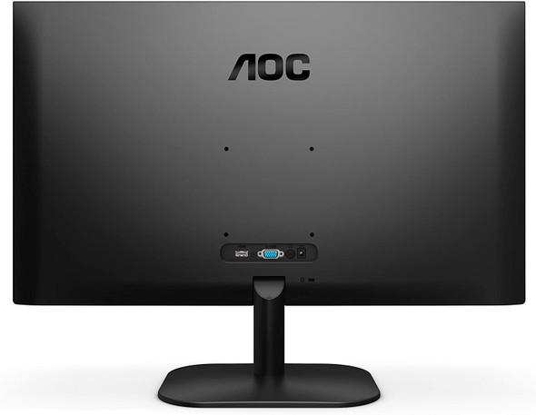 "AOC 27B2H 27"" Full HD IPS Monitor, 3-Sided Frameless & Ultra Slim Design, HDMI and VGA inputs, Lowblue Mode,Black"
