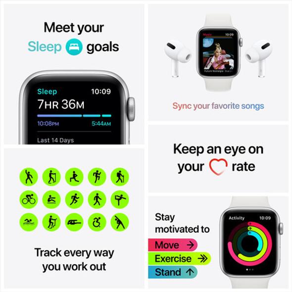 Apple Watch SE ( GPS, 40mm, Gold Aluminum, Pink Sand Sport Band )