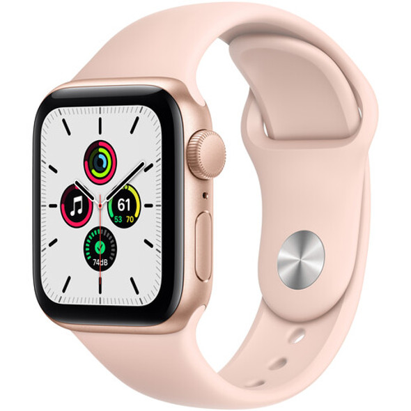 Apple Watch SE MYDN2LL/A ( GPS, 40mm, Gold Aluminum, Pink Sand Sport Band )
