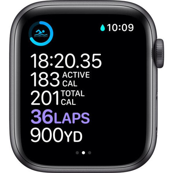 Apple Watch Series 6 ( GPS, 44mm, Space Gray Aluminum, Black Sport Band )