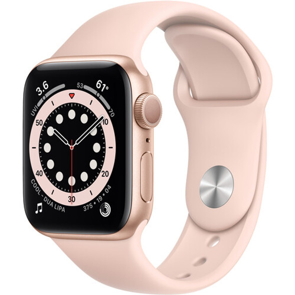 Apple Watch Series 6 MG123LL/A ( GPS, 40mm, Gold Aluminum, Pink Sand Sport Band )