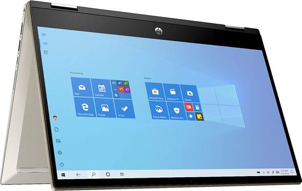 HP Pavilion 14 inch 14M-DW0023 x360 Convertible Laptop, Intel Core i5-1035G1 1.0GHz, 8GB, 256GB SSD - Luminous Gold | 9GF08UA#ABA