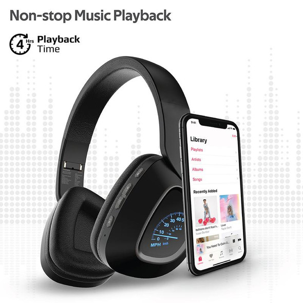 Promate BAVARIA Deep Bass Over-Ear Wireless Stereo Headphone