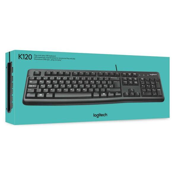 Logitech K120 Ergonomic Desktop USB Wired Keyboard