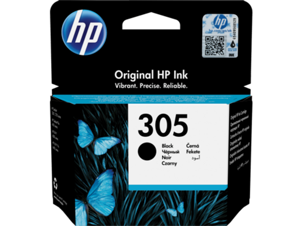HP 305 Black Original Ink Cartridge (3YM61AE)