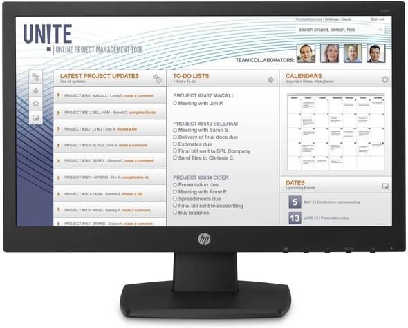 HP V197 18.5 Inch LED Monitor, TN Panel, DVI-D, VGA, 200cd/m2, 5ms