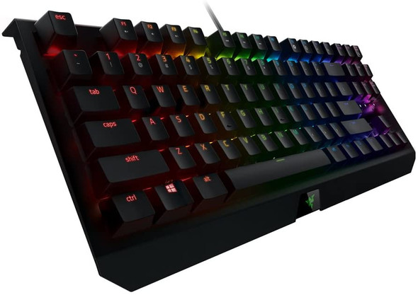 Razer BlackWidow X Tournament Edition Chroma, Clicky RGB Mechanical Gaming Keyboard, Military Grade Metal Construction and Compact Layout - Green Switches RZ03-01770100-R3M1