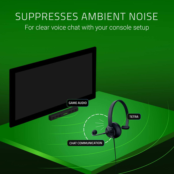 Razer Tetra Streaming Headset: Lightweight Frame, Bendable Cardioid Microphone, for PC, Xbox, PS4, Nintendo Switch, Reversible Left/Right Orientation