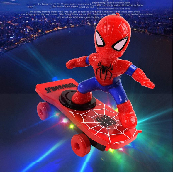 SPIDERMAN SKATEBOARD TOYS SONG FLASH RC TOY FOR KIDS RC SKATEBOARD SPIDERMAN WITH LIGHT SOUND