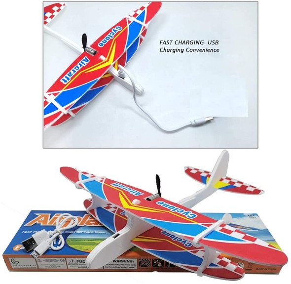 Electric Motor Foam Slow Flying double wing aircraft Airplane Fixed Wing Plane Toys Styrofoam flying gliders Fun Toys kit