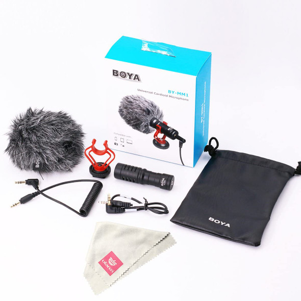 BOYA BY-MM1 Mini Cardioid Condenser Microphone (view)