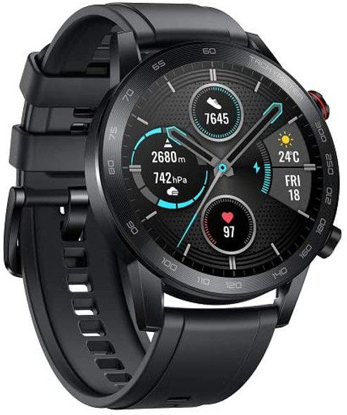 """HONOR Magic Watch 2 Smart Watch 1.39"""" AMOLED Display Bluetooth Call Activity Tracker 5ATM Waterproof 14days Battery Life Sport Smartwatch with Mic for Women Men (Charcoal Black)"""