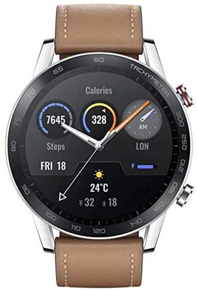 """HONOR Magic Watch 2 Smart Watch 1.39"""" AMOLED Display Bluetooth Call Activity Tracker 5ATM Waterproof 14days Battery Life Sport Smartwatch with Mic for Women Men(Flax Brown)"""