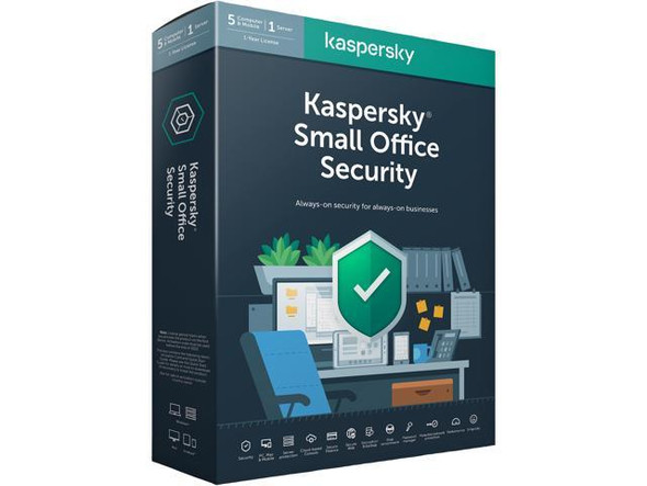 Kaspersky Small Office Security Latest Version- 5 PCs, 1 File Server, 1 Year License