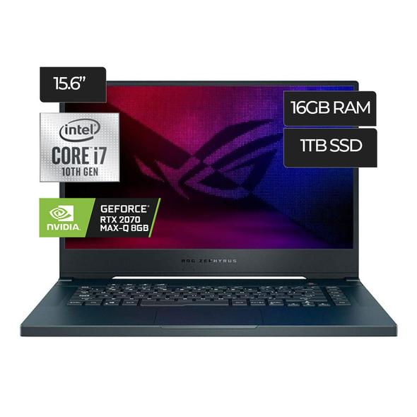"ASUS ROG Zephyrus M15 GU502LW-BI7N6, Prism Gray, 15.6"" FHD 240Hz, 2.6 GHz i7-10750H, RTX 2070 Max-Q, 16 GB 3200MHz RAM, 1 TB PCIe SSD"
