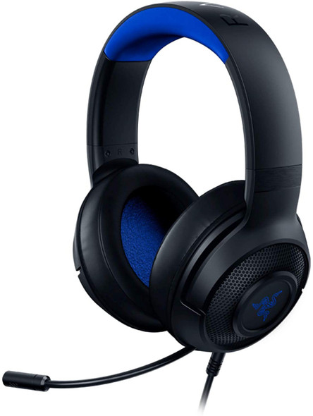 Razer Kraken X Ultralight Gaming Headset: 7.1 Surround Sound - Lightweight Aluminum Frame - Bendable Cardioid Microphone - PC, PS4, PS5, Switch, Xbox One, Xbox Series X & S, Mobile - Black/Blue - RZ04-02890200-R3M1