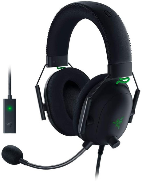 Razer BlackShark V2 Gaming Headset: THX 7.1 Spatial Surround Sound - 50mm Drivers - Detachable Mic - PC, PS4, PS5, Switch, Xbox One, Xbox Series X & S, Mobile - 3.5 mm Audio Jack & USB DAC - Black RZ04-03230100-R3M1