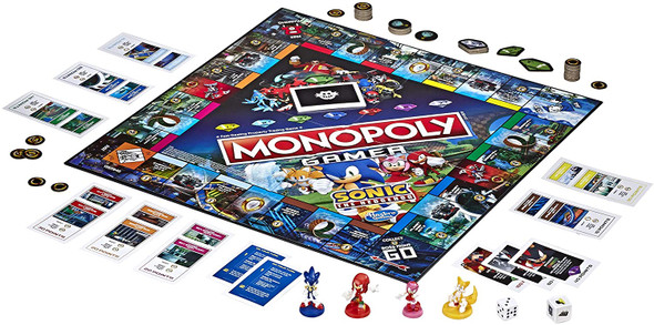 Monopoly Gamer Sonic The Hedgehog Edition Board Game for Kids Ages 8 & Up; Sonic Video Gamer Themed Board GameMonopoly Gamer Sonic The Hedgehog Edition Board Game for Kids Ages 8 & Up; Sonic Video Gamer Themed Board Game