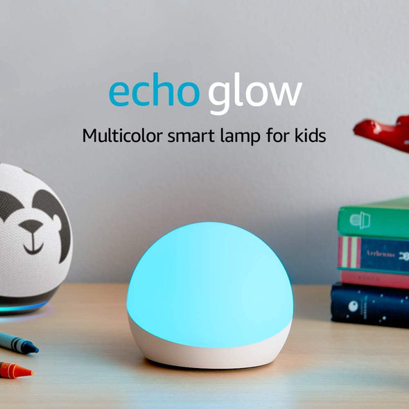 Echo Glow - Multicolor smart lamp for kids, a Certified for Humans Device – Requires compatible Alexa device (841667147833)
