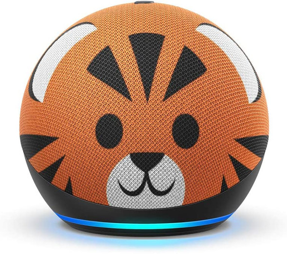Echo Dot (4th Gen) Kids Edition | Designed for kids, with parental controls | Tiger (Copy of 840080597775)