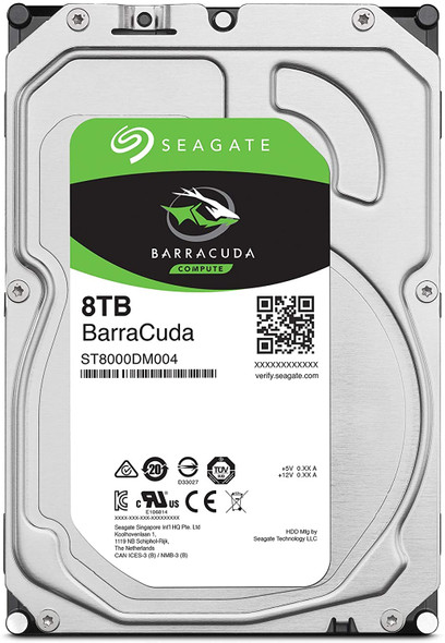 Seagate BarraCuda 8TB Internal Hard Drive HDD – 3.5 Inch Sata 6 Gb/s 5400 RPM 256MB Cache for Computer Desktop PC –| ST8000DM004 (AC1CSSB6)