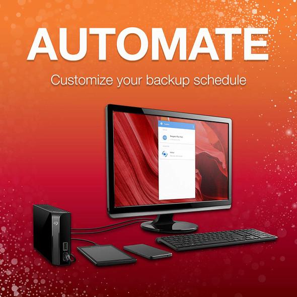 Seagate 6TB, 8TB Backup Plus Hub USB 3.0 Desktop 3.5 Inch External Hard Drive for PC and Mac