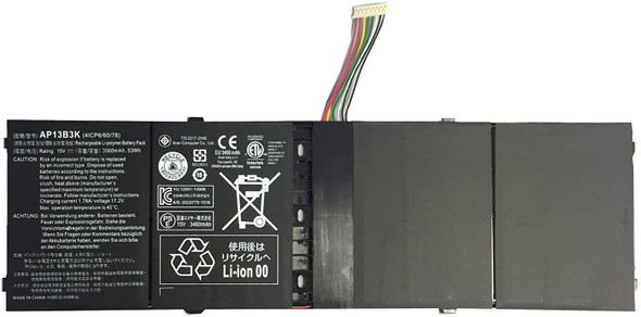 Replacement Battery Compatible with Acer EBKK AP13B3K AP13B8K, M5-583 M5-583P R7-571 R7-571G R7-572 R7-572G R3-471TG V5-583P V5-552PG-X809 V5-552G V5-572P V5-573P V7-481 V5-472P V5-572G V7-482P Notebook 4ICP6/60/78 (AC1LPB04)