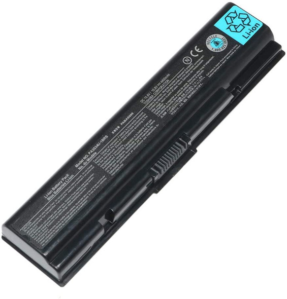 Replacement Battery Compatible with Toshiba Laptops | PA3534U-1BAS pa3535 3534 V000100760 PABAS098 PABAS099 pa3534-1brs pa3534u-1brs Satellite a305d a203 (AC1LBT04)